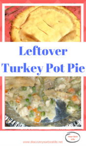 super easy turkey pot pie using leftover turkey from the holidays