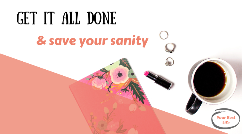 tips for busy moms to get it all done while saving your sanity using daily routines