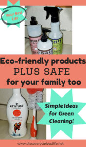 Simple ideas for green cleaning. Eco-friendly products that are safe for your family too