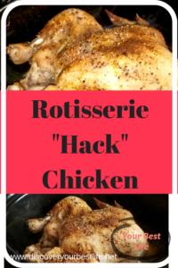 easy chicken dinner, knock off rotisserie chicken, baked chicken, rubber chicken