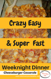 easy recipes for dinner, yummy comfort food, perfect for busy families and busier moms, easy dinner ideas #casserole #dinner