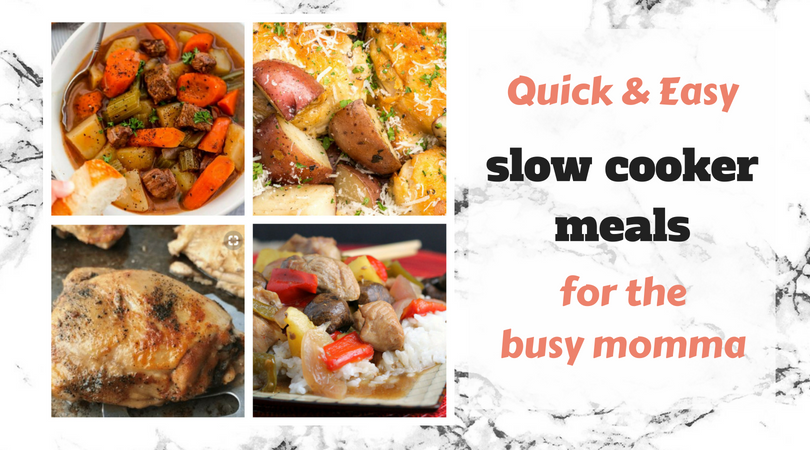 Quick and easy meals in the slow cooker for the busy mom
