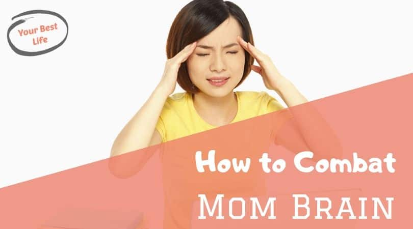 mom holding head in pain, mom brain