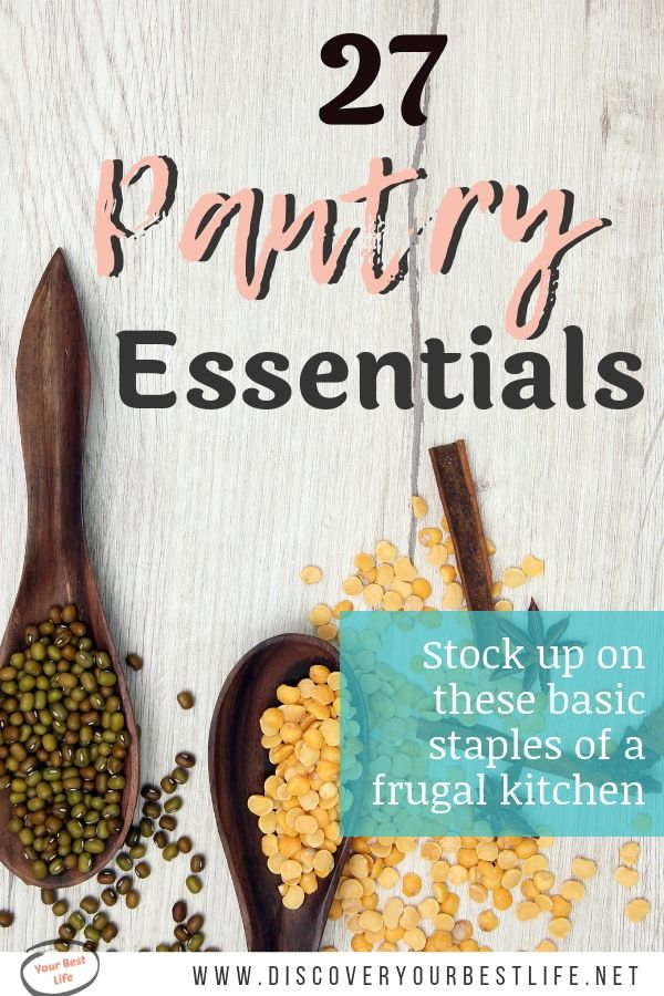 Keep this list of frugal pantry staples close by the next time you go shopping. Having these items stocked up in your pantry will help you run a more frugal kitchen.